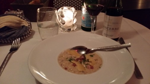 The entrée I had at River Café was the Risotto, which was tasty.
